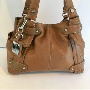 Tignanelio Leather Bag Brown Large Shoulder Bag